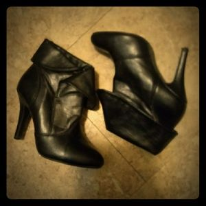 Sexy Black High Heel Ankle Boots by Forever size 6